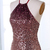 Sparkle Halter Sequins Brown Party Dress