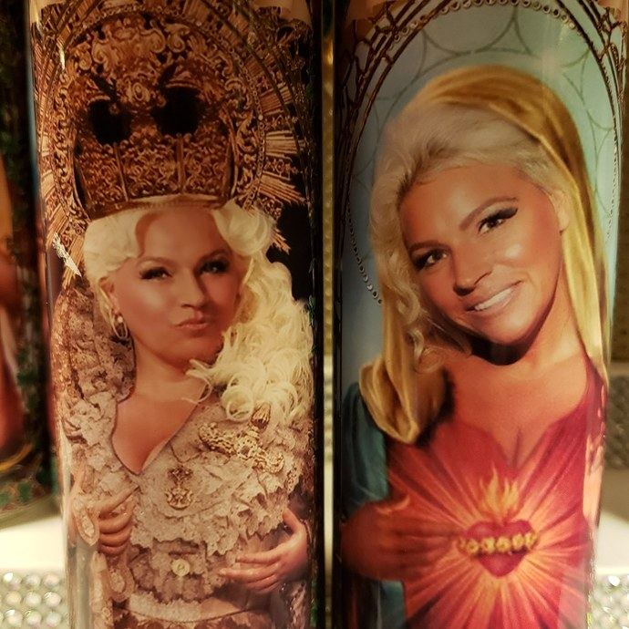 "Beth Chapman - 2 styles - 8"" Celebrity Saint Candle Church Window frame"