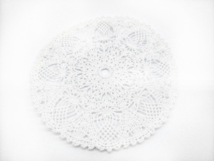 Tea Light Candle Mat, Small Lace, Doily, New Home Housewarming Gift, Wine Glass