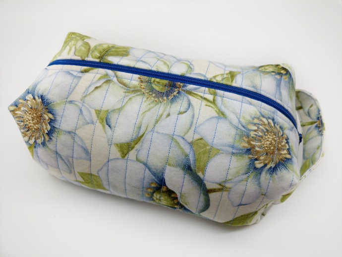 Zipper Boxy Pouch, Gift for Bride, Fabric Make Up Travel Case, Toiletry