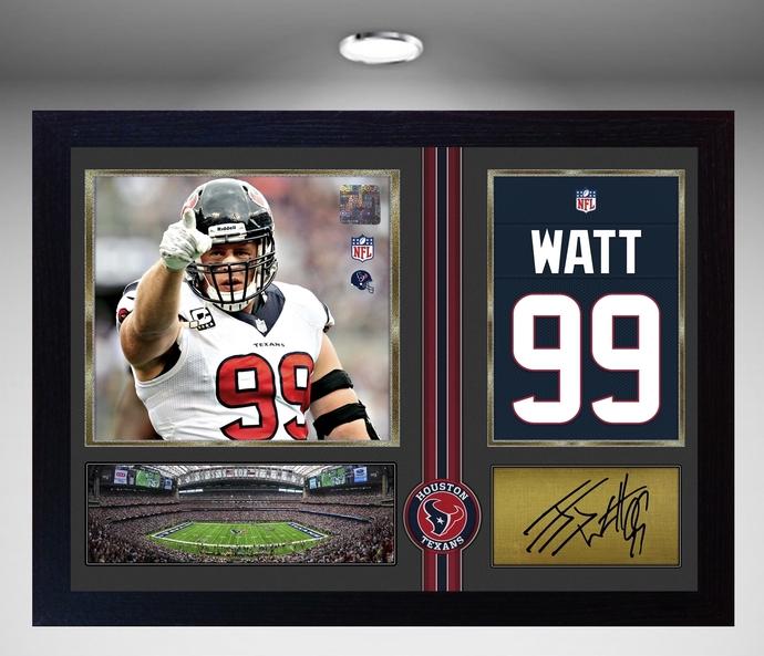 J.J.Watt HOUSTON TEXANS NFL signed autograph American Football Framed #1