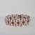 pink handmade bracelet crystals superduo beads Free Matching Earrings