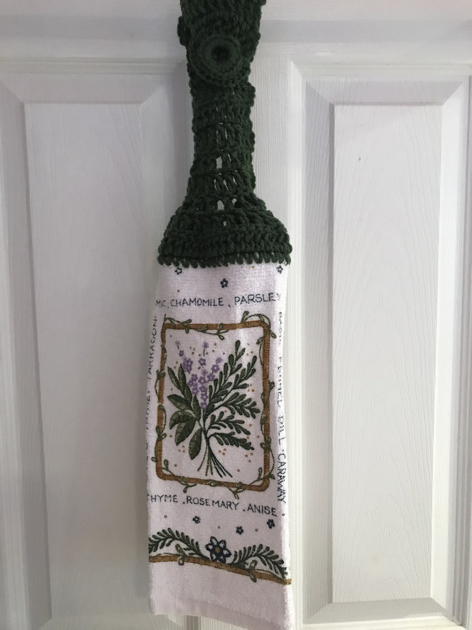 Herbs Hanging Kitchen Towel