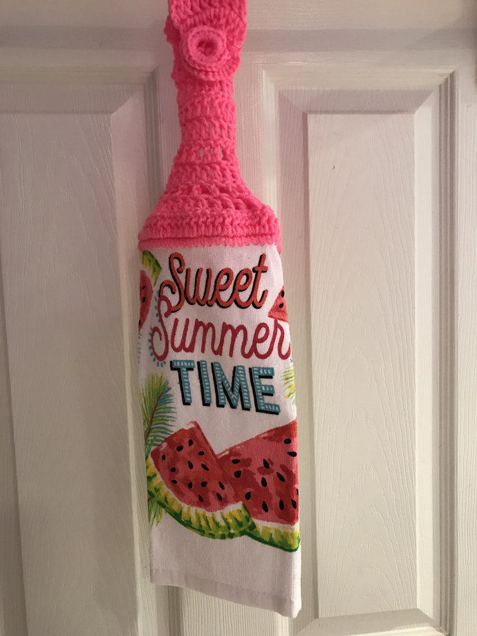 Sweet Summer Time Hanging Kitchen Towel