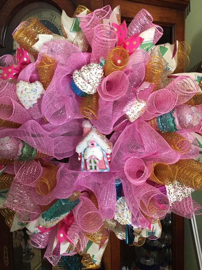 Candy Fantasy Land Christmas Wreath