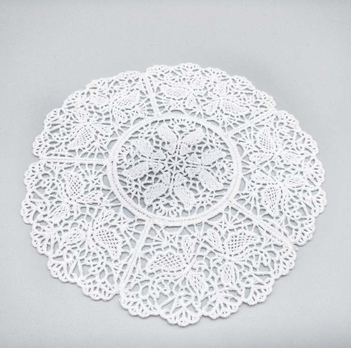 White Butterfly Lace Mandala, Vintage Style Lace Doily, Gifts Under $15, Wedding