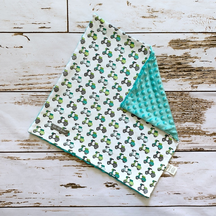 Scooters & Aqua Dots Lovey Blanket