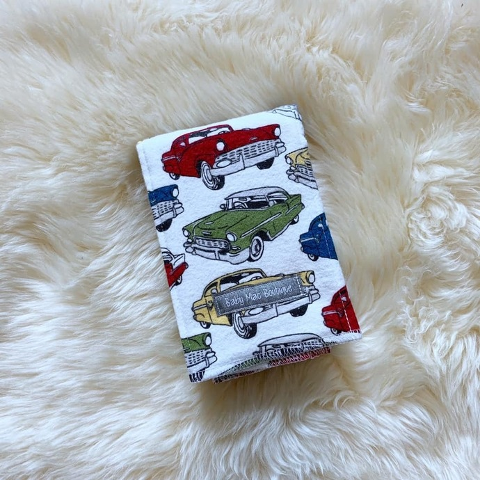 Classic Cars Burp Cloth