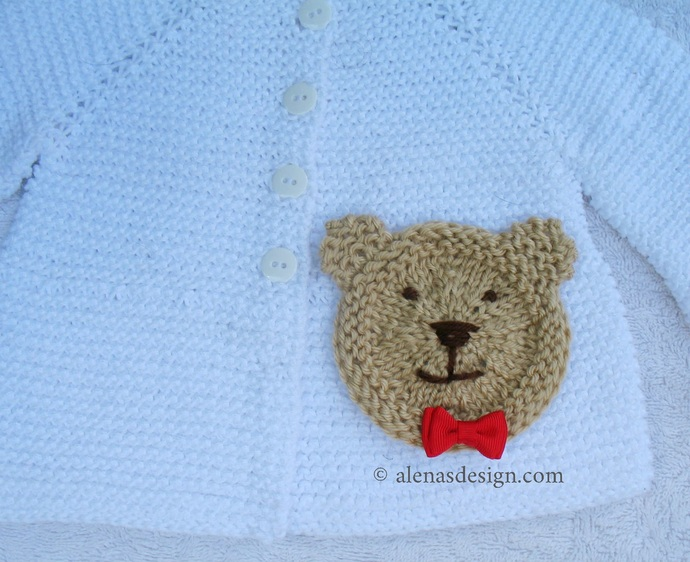 Knitting Pattern 239 Baby Bear Hoodie Baby Hooded Jacket 3, 6, 12, 24 months