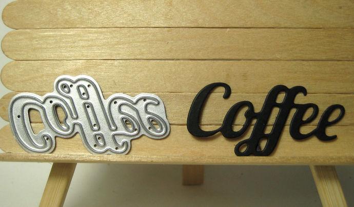 Coffee Word Cutting Die