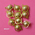 10 pieces of Bright Gold Finish Ball Link