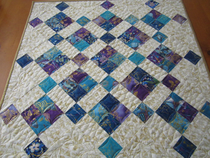 Table Topper Quilted Handmade Table Quilt Square Centerpiece