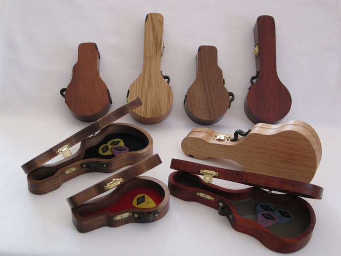 Guitar Pick Holder; Pick Cases; Banjo Pick Holder; Boxes shaped like Guitars,