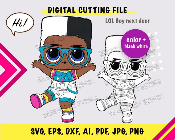LOL Boy next door SVG, eps, dxf, ai, pdf, jpg, png