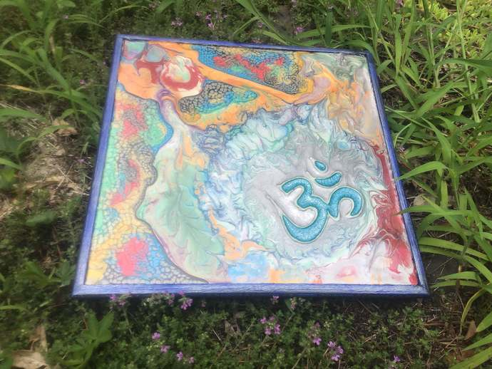 Multi Colored OM in Blue Metallic Frame One-of-a-Kind