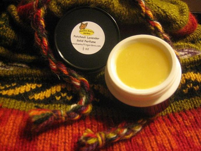 Solid Perfume, Earthy Patchouli n' Lavender, Pot or Tube, Body Fragrance