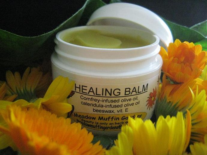 Herbal Healing Salve, Balm for Minor Wound Care, Calendula, Comfrey, Childcare,