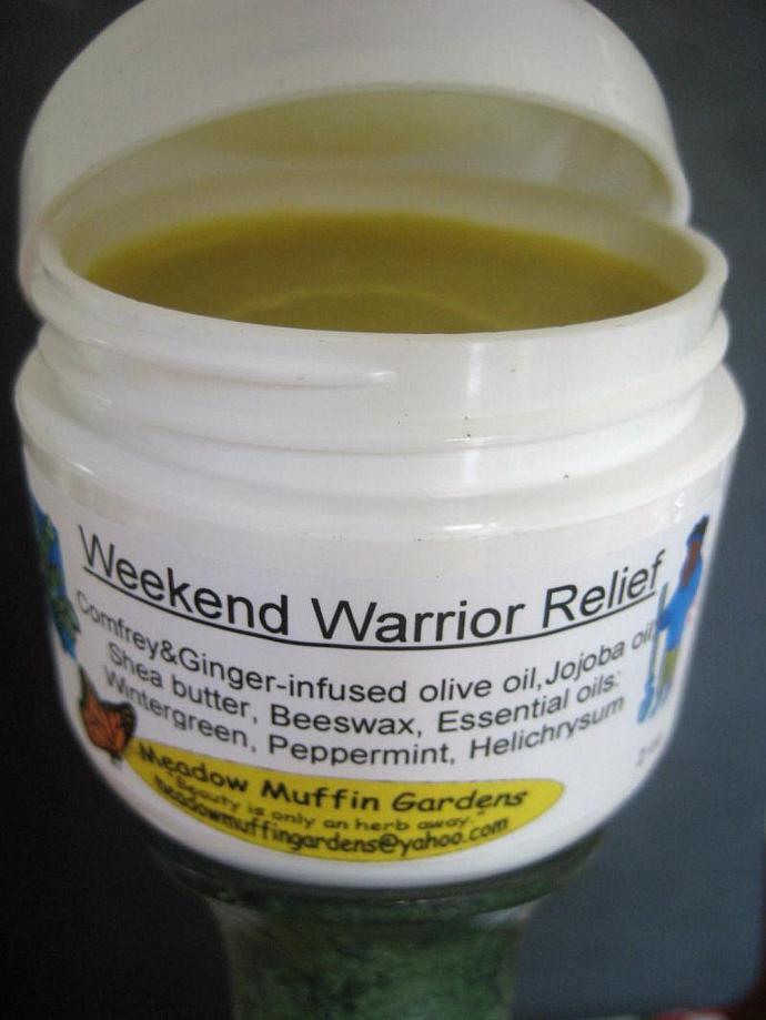 Overexertion Muscle Ache, Stiffness Relief, Herbal Balm, Weekend Warrior