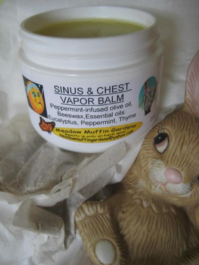 Sinus and Chest Vapor Rub relief for congestion, cold and flu symptoms, adults,