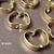 20 pcs Bright Gold Finish Apple Shape Link