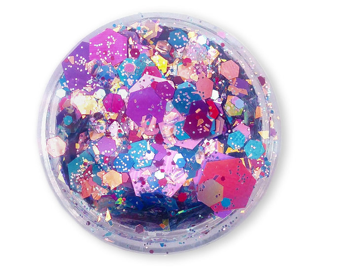 Love is Love - Loose Holographic Pride Themed Chunky Glitter Mix In Blue, Pink &