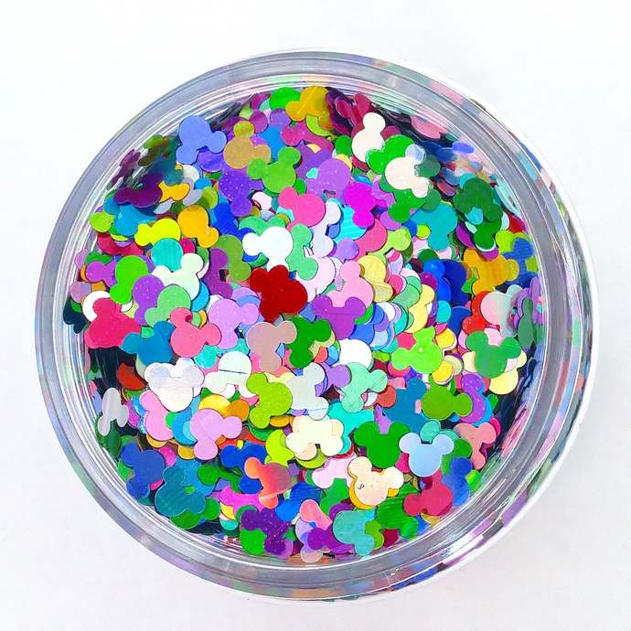 Squeaky Kaleidoscope -  Mouse Ear shaped Holographic Loose Cosmetic & Craft