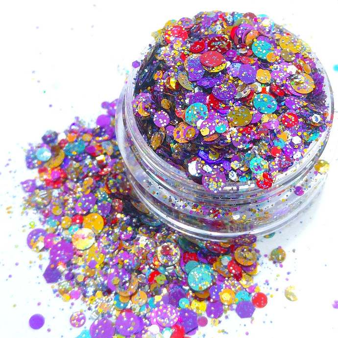 Spellbound - Halloween Themed Loose Cosmetic & Craft Chunky Glitter Mix