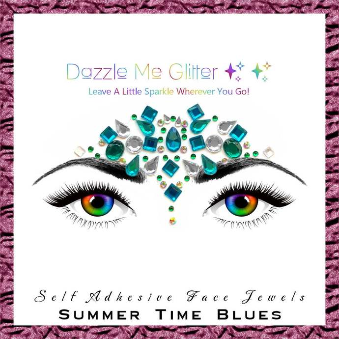 Summer Time Blues - Self adhesive face and body gems