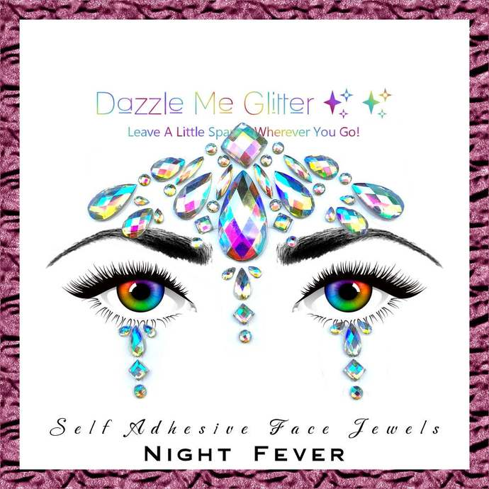 Night Fever - Self adhesive face and body gems
