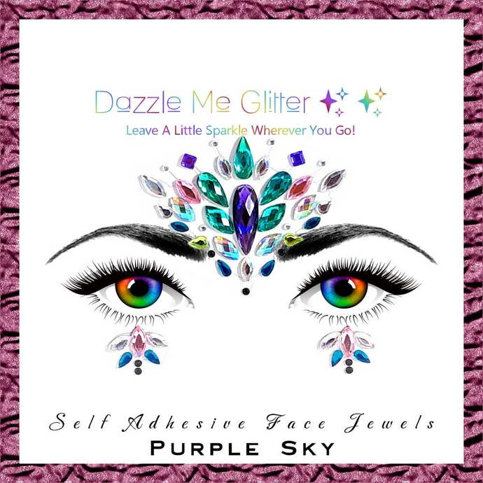 Purple Sky - Self adhesive face and body gems