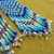 Native American Style Brick Stitched Geometric Shoulder Duster Earrings in Ombre