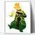 Book Mowgli inspired silhouette modern cross stitch pattern, bear, nature,