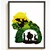 Princess Silhouette modern cross stitch pattern, castle, dragon, fairytale,