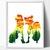 Dog fox Silhouette modern cross stitch pattern, nature, forest, love, fairytale,