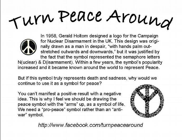 Small Silver Peace Sign Charm - TPA
