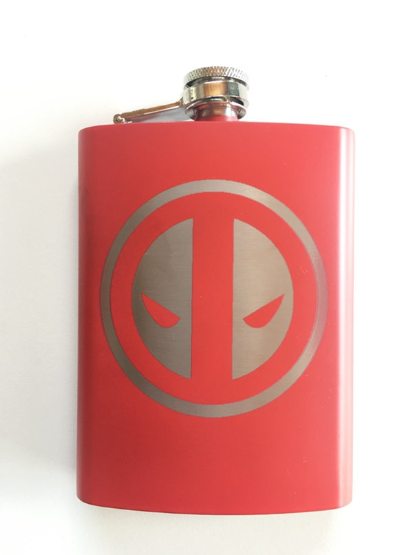 Deadpool Stainless Steel hip flask