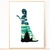 Princess Silhouette modern cross stitch pattern, snowman, winter castle,