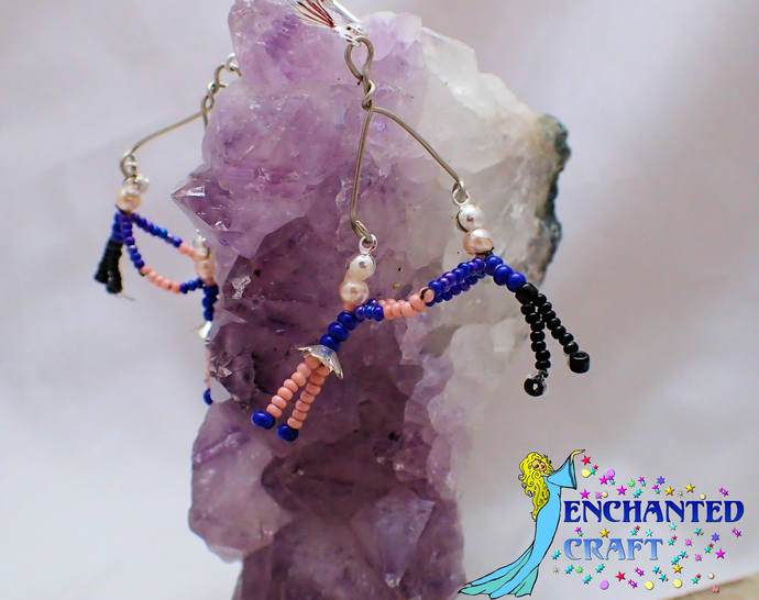 Square Dance Couple Beaded Earrings choose your color! Squaredancing