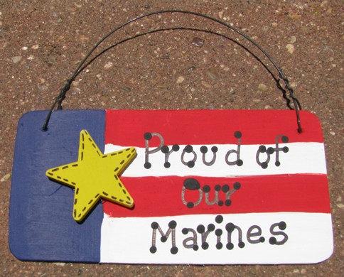 Patriotic Sign 10977M-Proud of our Marines