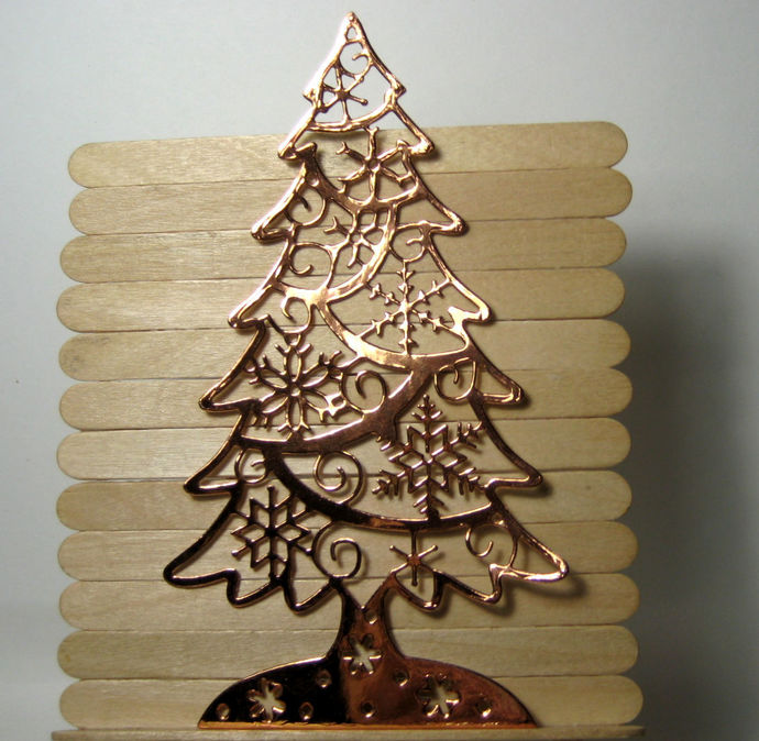 Christmas Tree with Snowflakes Metal Cutting Die