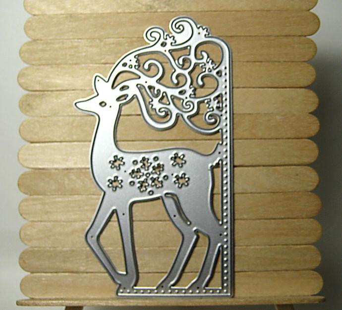Fancy Reindeer Corner Cutting Die