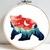 Bear silhouette modern cross stitch pattern, nature, landscape, forest,