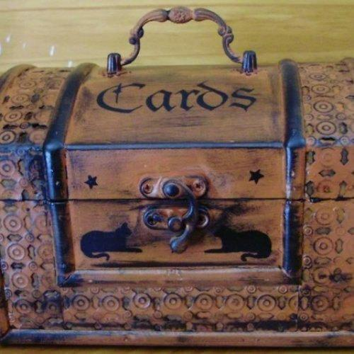 Primitive Witch Tarot Cards Purse purses witchcraft astrology goth Chest Box