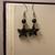Star Drop Earrings/ Black Star Earrings/ Beaded Earrings/ Dangle Earrings/ Drop