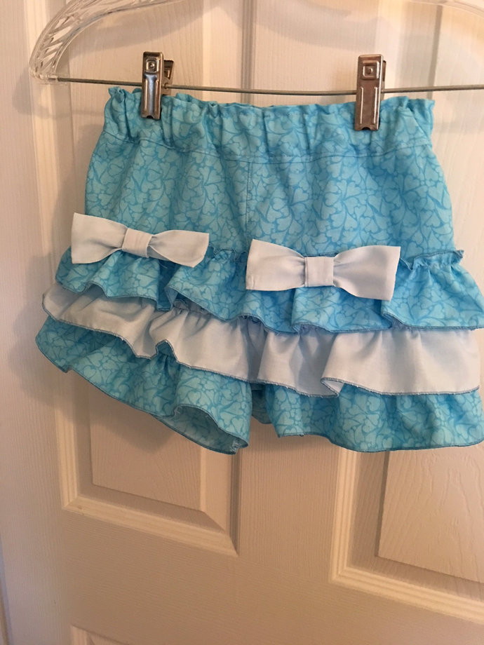 Frilly shorts, Girls Shorts, Custom Made Shorts