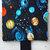Universe Women's wallet, fabric clutch wallet, slim bifold wallet, handmade