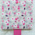 Womens wallet in pink wildflowers, Bifold slim travel fabric wallet, handmade