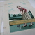 Completed Needlepoint golfers Man and woman playing golf Beautifully stitched