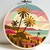 Tropic Landscape Modern Cross Stitch Pattern, palm tree silhouette, starry