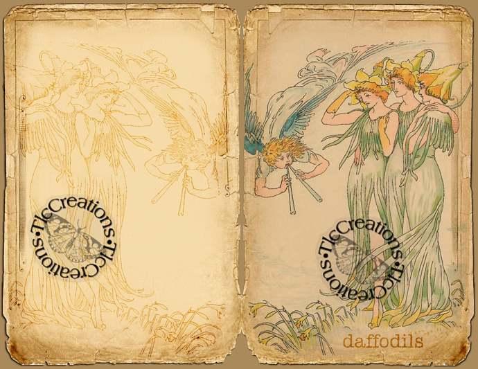 Flowers Alive Vintage Printable Junk Journal Kit, Journal papers, Journal Cards,